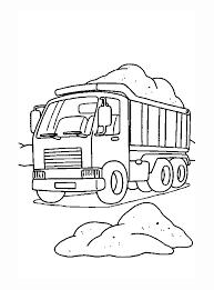 Kleurplaat Vrachtauto Met Zand In De Laadbak Kleurplaatjecom