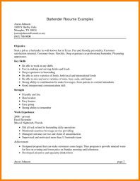 Bartender Resume Sample Complete Guide 20 Examples How To Make A