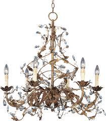 2851 elegante 6 light chandelier etruscan gold