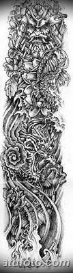 тату рукав для девушек эскизы 08032019 013 Tattoo Sketches