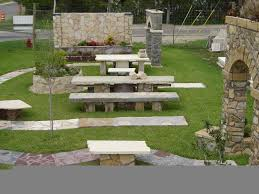 stone garden bench ideas