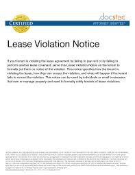 Rental Contract Texas Luxury 17 Unique Agreement Violation Letter
