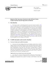 report of the secretary general on the african union united  report of the secretary general on the african union united nations hybrid operation in darfur s 2016 812 en ar sudan reliefweb