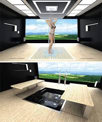 tech bedroom design.  Bedroom At First Glance This Bathroom Appears To Be Incredibly Simple U2013 A  Ceilingmounted Showerhead And Slatted Wooden Floor In Large Empty Room With Tech Bedroom Design E