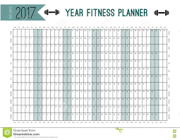 Year Wall Planner Template Plan Out Your Whole Fitness With