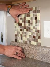 Installing Glass Mosaic Tile Backsplash Cool Design Inspiration
