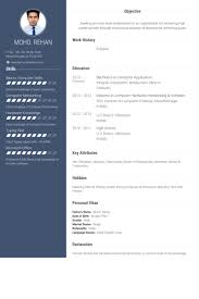 Fresher Resume Samples Visualcv Resume Samples Database