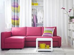 pink living room furniture. FRIHETEN Corner Sofabed With Skiftebo Cerise Cover And LACK White Side Table On Castors Pink Living Room Furniture