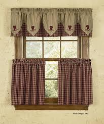 Primitive Curtains For Kitchen Kitchen Good Country Kitchen Curtains With Regard To Primitive