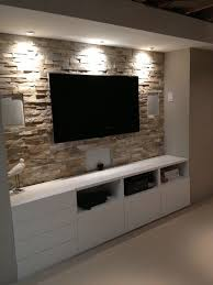 basement stone entertainment center with ikea cupboards shannacreatio pinteres