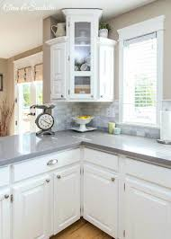 white and gray countertops beautiful white kitchen with grey quartz white countertops grey backsplash