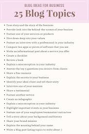 blog topics for your business boundless internet marketing  25 blog topics for your business