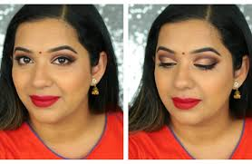 hey guys today i am creating this gold cut crease indian makeup look that s great