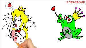 Vẽ và Tô Màu Công Chúa và Hoàng Tử Ếch - Drawing and coloring princess and  the frog prince - Hướng dẫn vẽ tranh và tô màu dành cho bé - Kho