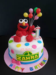 Elmo Cake For 1 Year Old Zahra Jocakes