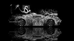 bugatti veyron lion smoke power