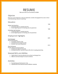 How To Do A Job Resume