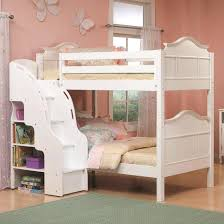 bunk bed with stairs for girls.  Bunk Girls White Bunk Beds Decorating Cute With Stairs Loft For  Teens Staircase Bedrooms Without Windows Uk Intended Bed O