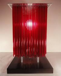 modern and elegant interior lighting red table lamps by andarina design