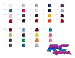 Hoodie Colour Chart Sponsor Hoodie Color Chart Rc Swag Stickers T Shirts