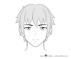 Choose one that perfectly frames your face and all eyes this is a teenage hairstyle. How To Draw Male Anime Characters Step By Step Animeoutline