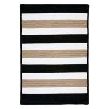 black sand braided area rug
