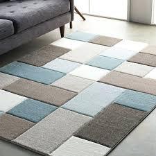 geometric rugs street modern carved teal brown area rug uk geometric rugs