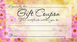 Mother Day Gift Certificate Template Word Mothers Day Gift