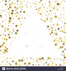 gold frame border design. Gold Frame Or Border Of Random Scatter Golden Stars On White Background.  Design Element For Festive Banner, Birthday And Greeting Card, Postcard, Wedd Design I