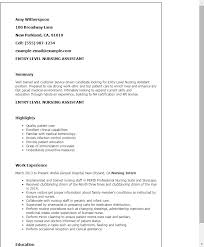 1 Entry Level Receptionist Resume Templates Try Them Now