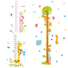 Details About Cartoon Height Growth Chart Measure Ruler Vinyl Decal Kid Baby Room Wall Sticker