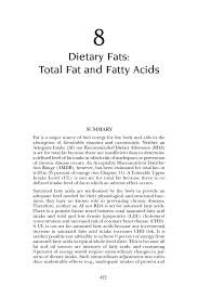 dietary fats total fat and fatty acids dietary reference  page 422