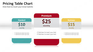 Pricing Table Templates Pricing Table Powerpoint