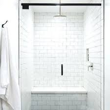 shower bench seat white shower walls with black hex shower floor tiles shower bench seat cvs