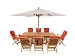 Set di tavolo e sedie da giardino in legno tavolo 8 sedie con