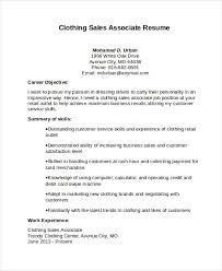 Clothing Sales Associate Resume Resume Cover Letter