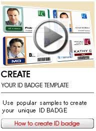 Free Id Badge Template Online Id Badge Maker Low Cost And Professional Card
