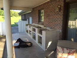 cinder block fireplace outdoor kitchen cabinets diy how to build built in bbq make cement blocks building island an grill with much are your own kits frame