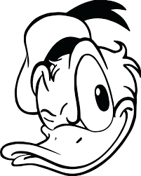 Donald Duck Line Drawing Free Download Best Donald Duck Line