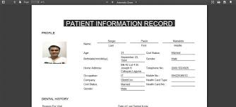 Standard Dental Chart Detailed Reports Intellident