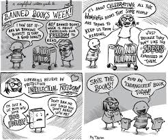 a simplified cartoon guide to banned books week