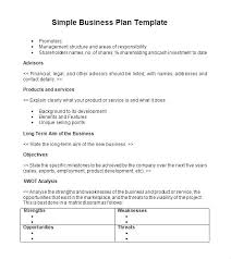 simple one page business plan template one page business plan template free two format simple word