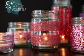 How To Decorate Candle Jars How To Make DIY Glittered Glass Jars Perfect Candle Holders 7