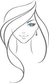 Image Result For Simple Black And White Female Face Illustrations
