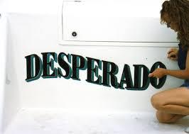 Desperado Boat Lettering232
