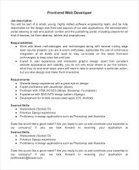 Senior Programmer Job Description Fascinating Mobile Developer Job Description Trisamoorddinerco