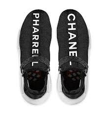 chanel x pharrell adidas. not much else has been revealed, but this three-way collaboration is already building up to be one of the most talked-about and impossible-to-attain sneaker chanel x pharrell adidas i