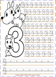 Small Picture kindergarten number 3 tracing worksheets Printable Coloring