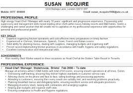 Chef CV Sample
