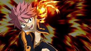 fairy tail natsu dragneel flames